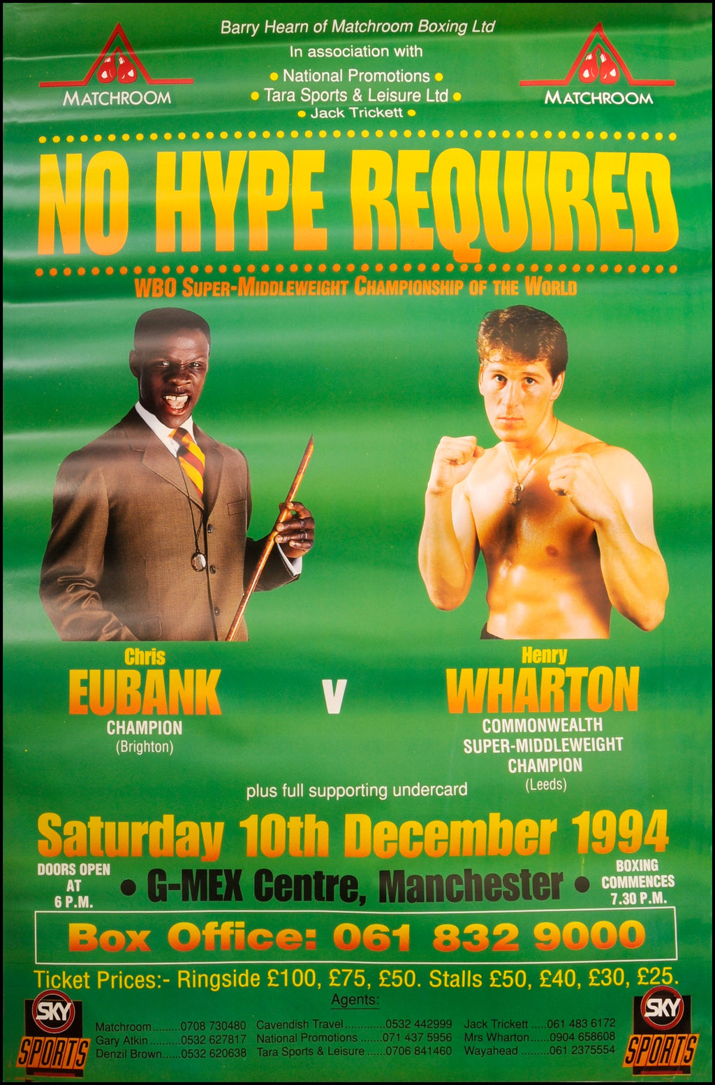 Chris Eubank poster - No Hype Required