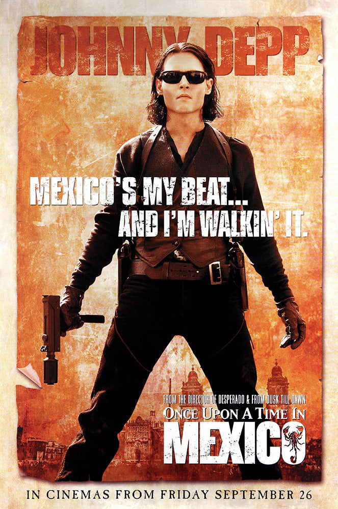 Once Upon a Time in Mexico poster - Johnny Depp