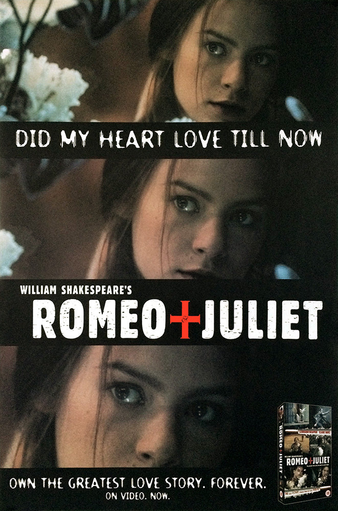 Claire Danes poster - Romeo and Juliet. Original