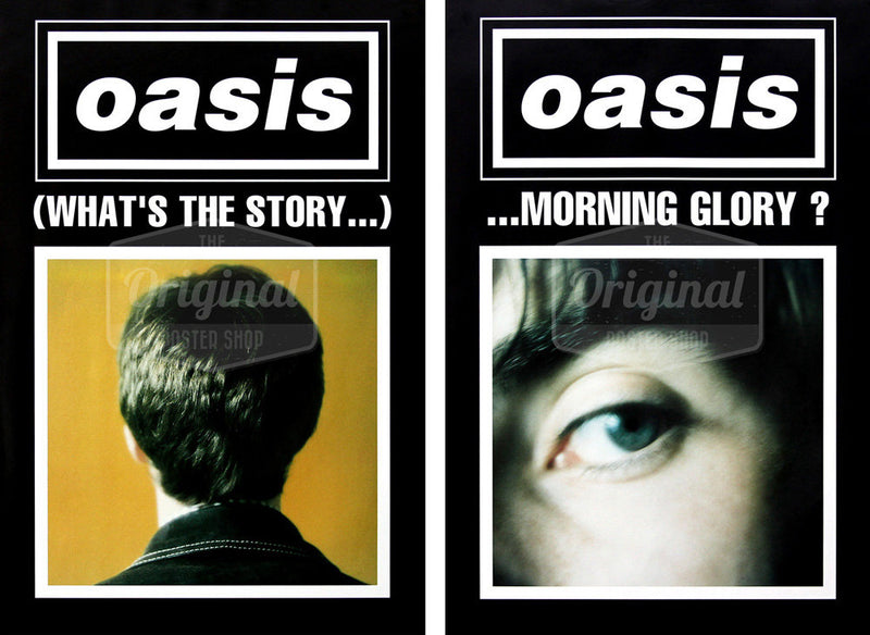Oasis posters - (What's the Story) Morning Glory? black duo set (1st Generation Reprints)