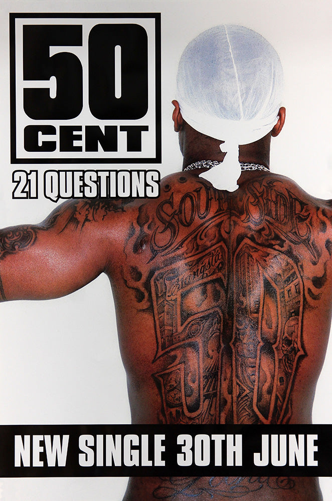 50 Cent poster - 21 Questions. Original