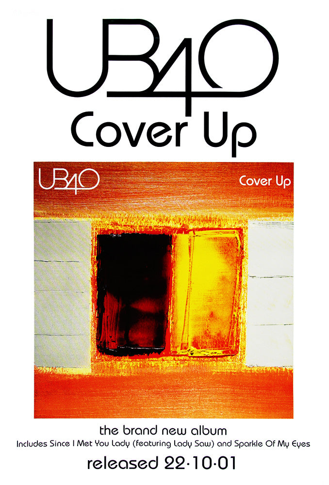 UB40 poster - Cover up - Large Adshel format