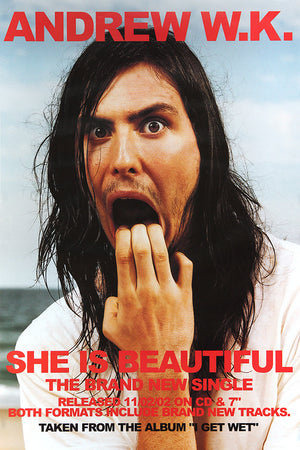 Andrew WK poster - She is beautiful