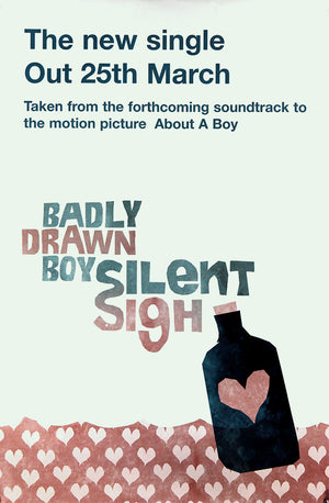 Badly Drawn Boy poster - Silent Sigh