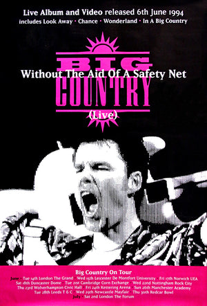 "Big Country poster – Without the Aid of a Safety Net. Original 60""x40"""