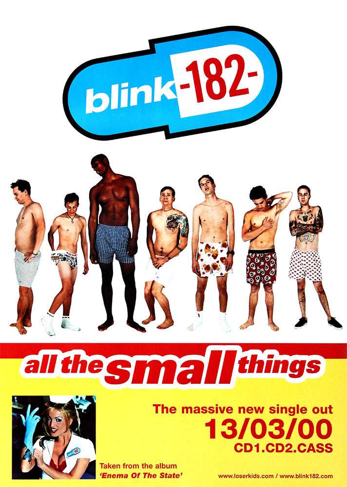 Blink-182 poster - All the Small Things. Original