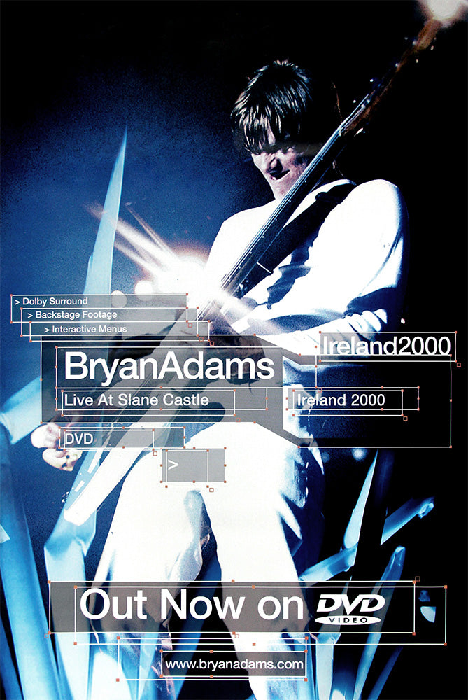 Bryan Adams poster - Live at Slane Castle. Large Original