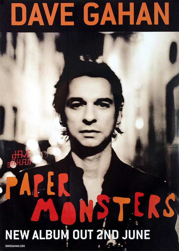 Dave Gahan poster – Paper Monsters