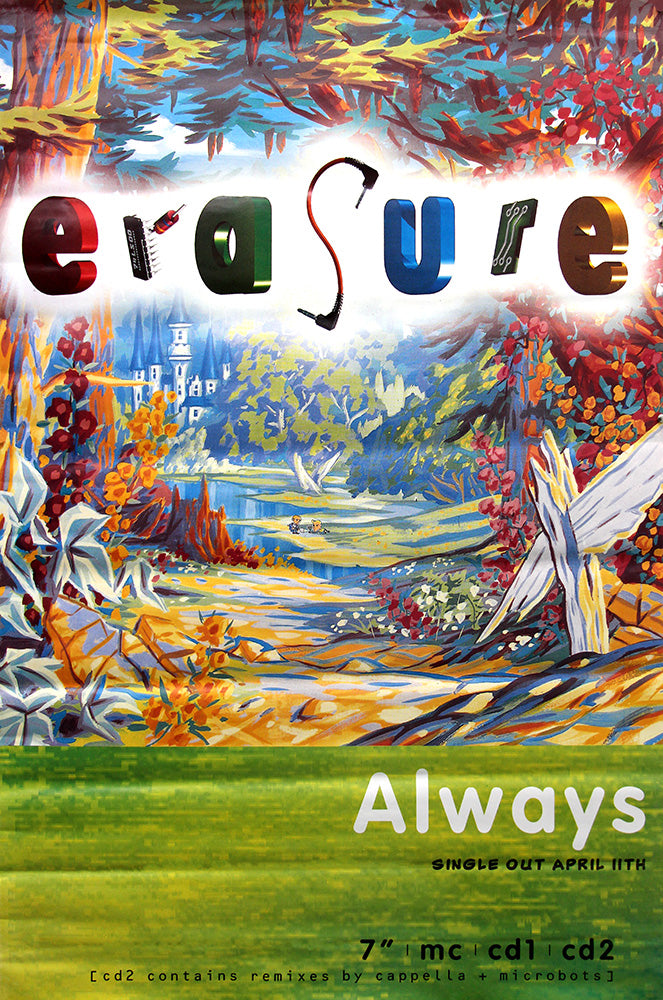 "Erasure poster – Always. Original 60""x40"""
