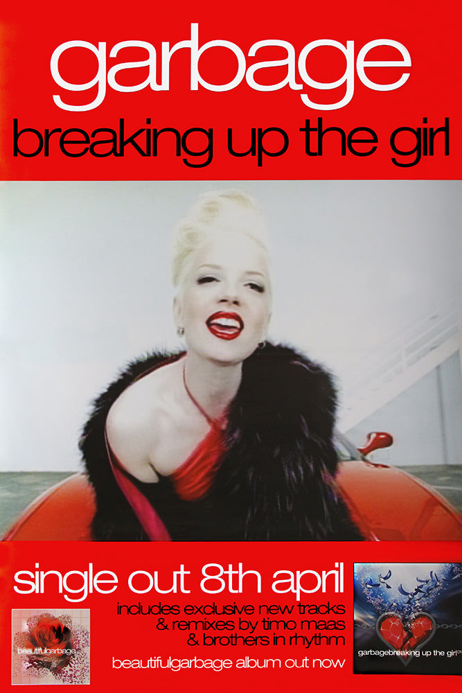 "Garbage poster – Breaking the Girl. Original 60""x40"""