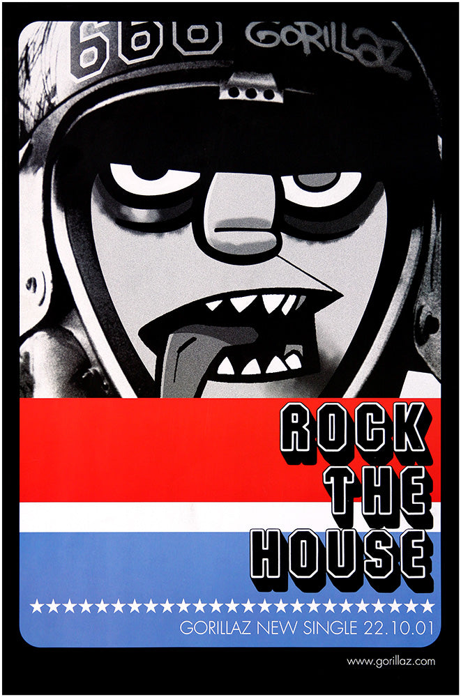 Gorillaz poster - Rock the House. Original