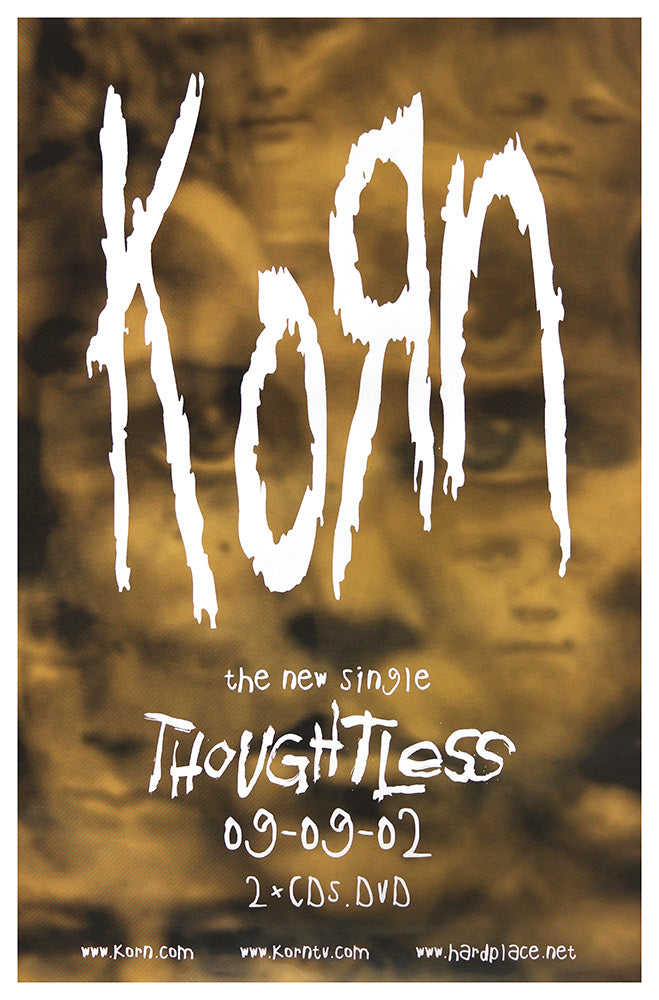 Korn poster - Thoughtless