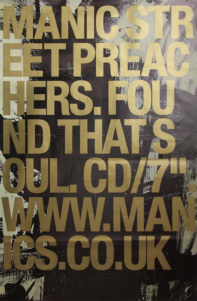 "Manic Street Preachers poster - Found That Soul. Original 60"" x 40"""