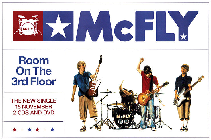 McFly poster - Room on the 3rd Floor. Original