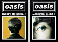 Oasis poster - (What's the Story) Morning Glory? Black duo set. Very Rare Originals