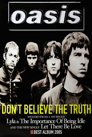 "Oasis poster - Don't believe the truth - Original Large 60""x40"""