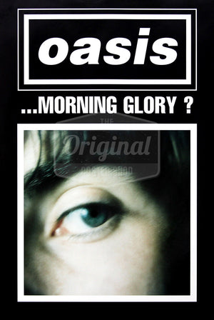 Oasis poster - (What's the Story) Morning Glory? Liam (Black). Rare original
