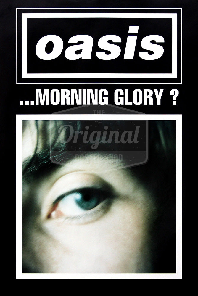 Oasis poster - (What's the Story) Morning Glory? Liam (Black). Very Rare original