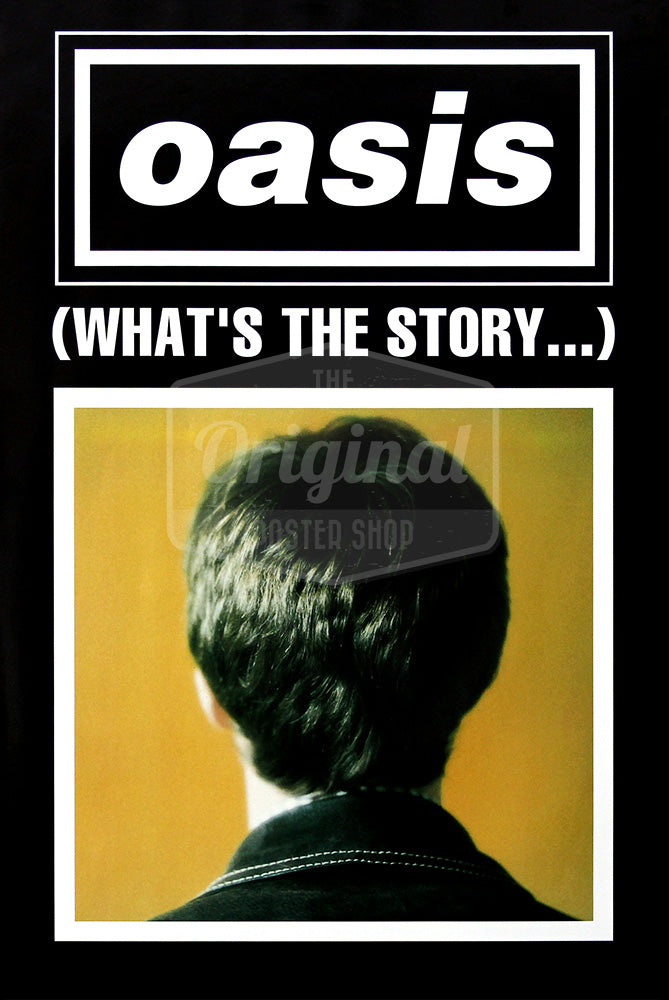 Oasis poster - (What's the Story) Morning Glory? Noel (Black). Rare Original