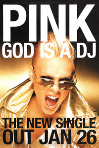Pink poster - God is a DJ
