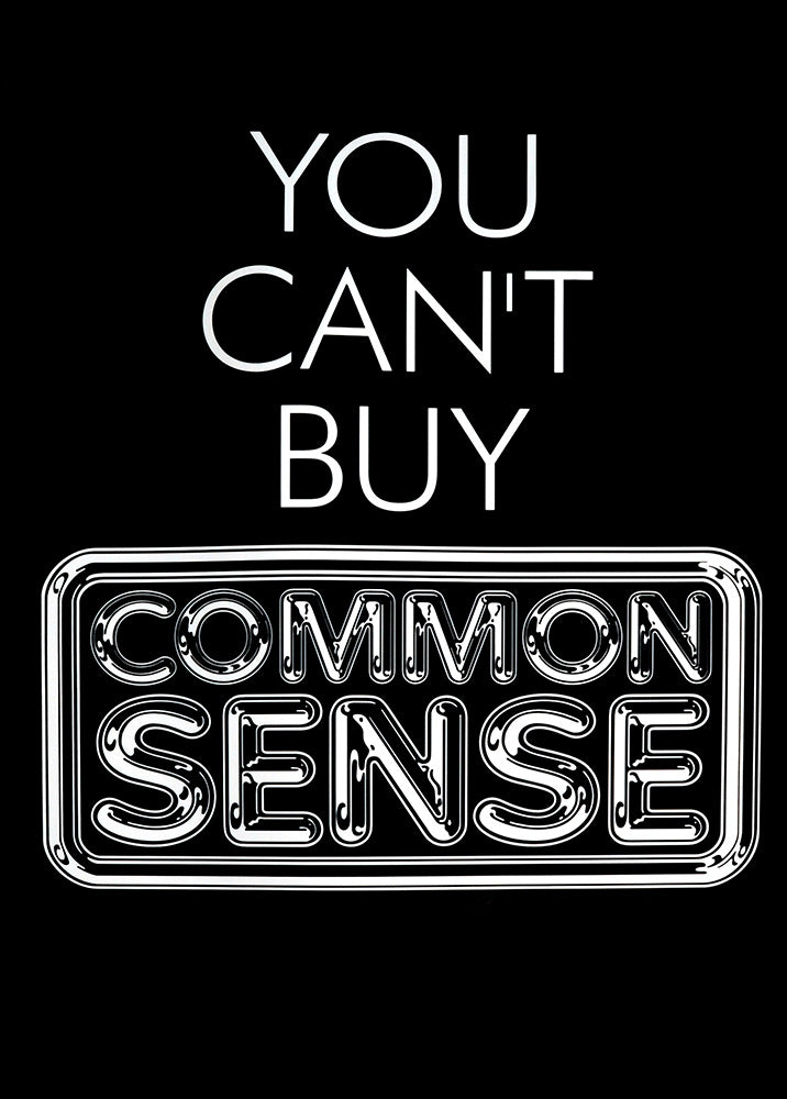 Pulp poster - You can't buy common sense. Original