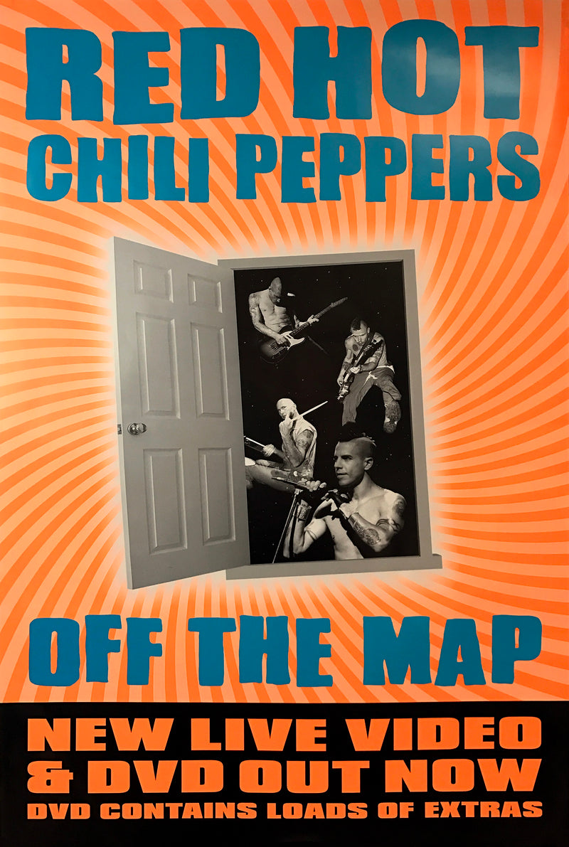 Red Hot Chili Peppers poster - Off The Map. Original