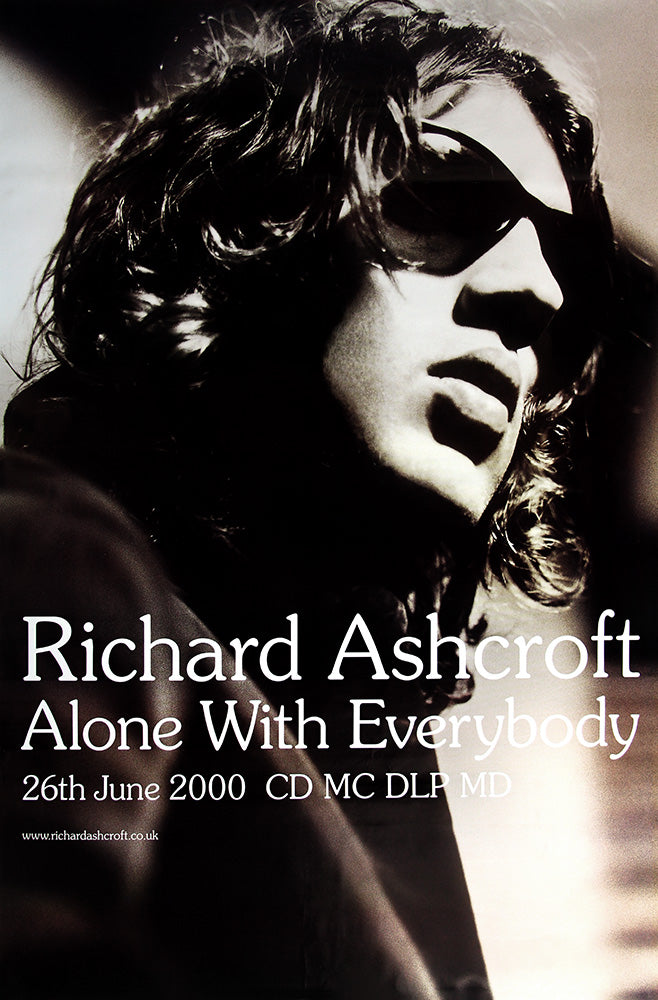 "Richard Ashcroft poster - Alone with Everybody. Original 60""x40"""