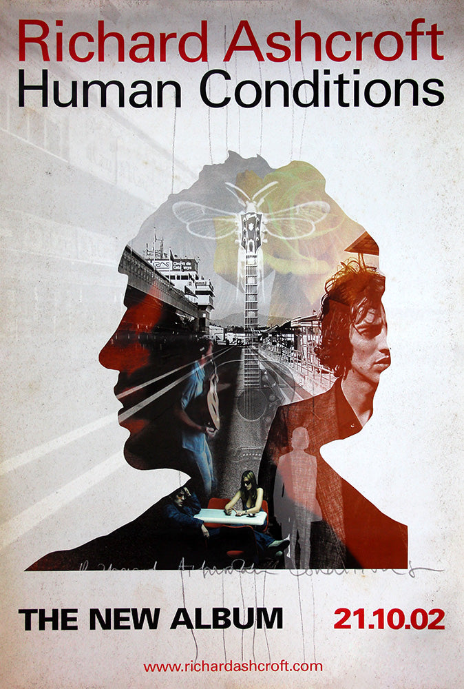 "Richard Ashcroft poster - Human Conditions. Original 60""x40"""