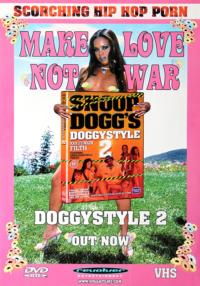 Snoop Dogg poster - Make Love Not War. Original