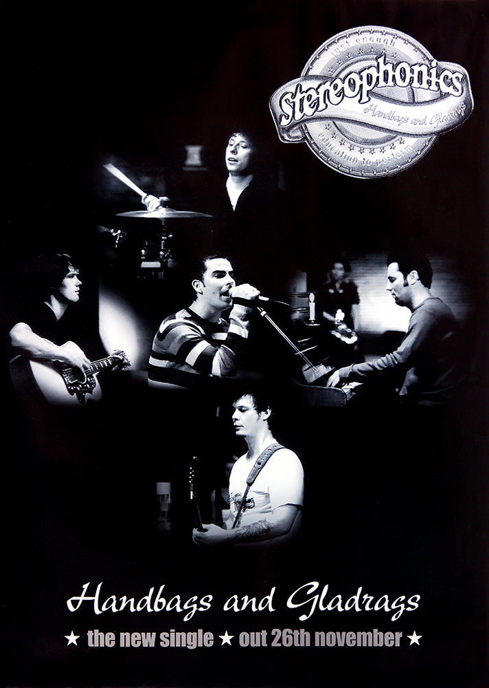 Stereophonics poster - Handbags and Gladrags (single). Original