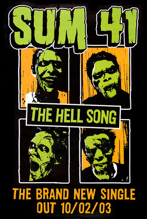 Sum 41 poster – The Hell Song. Original