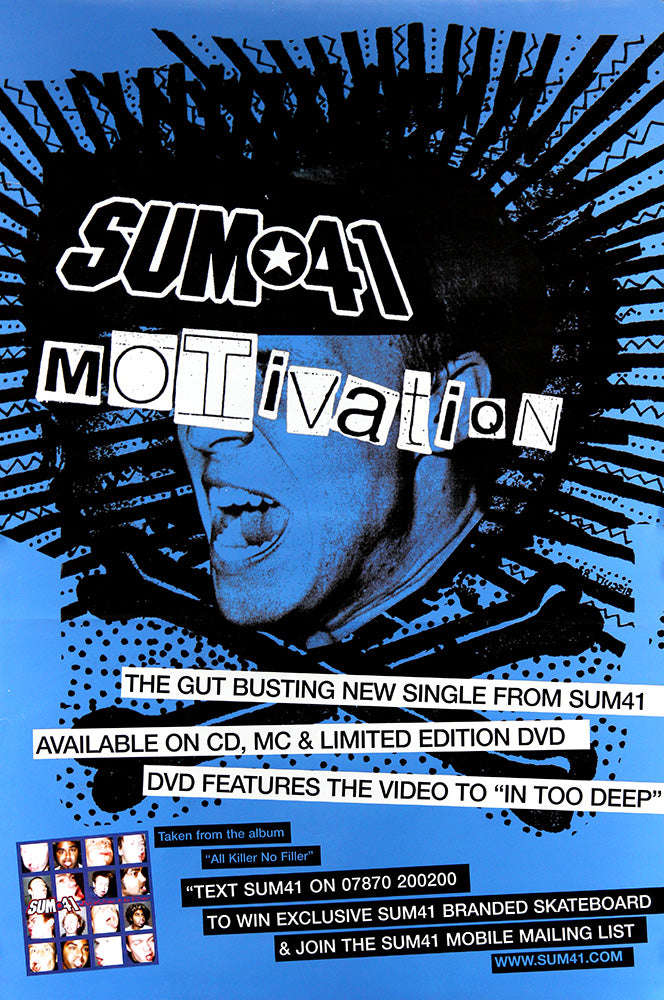 Sum 41 poster - Motivation. Original