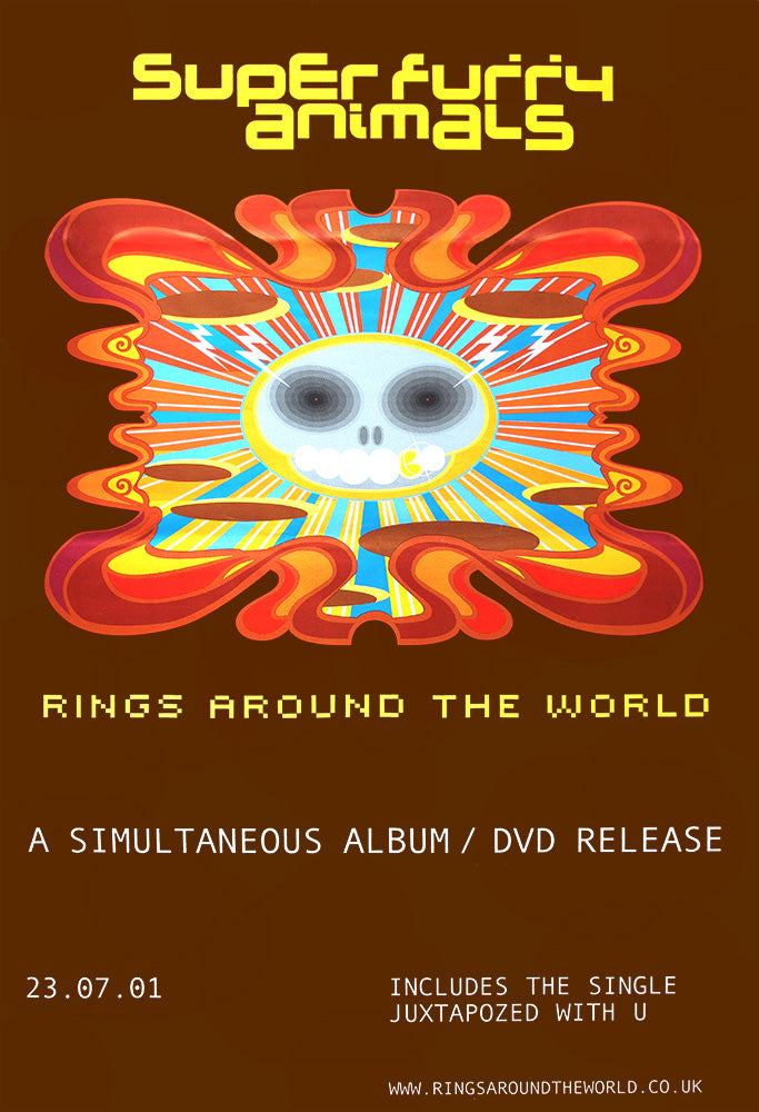 Super Furry Animals poster - Rings Around the World