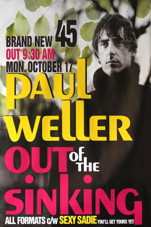 Paul Weller poster - Out of the Sinking. Original