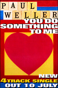 Paul Weller poster Duo - You Do Something To Me & Stanley Road. Original