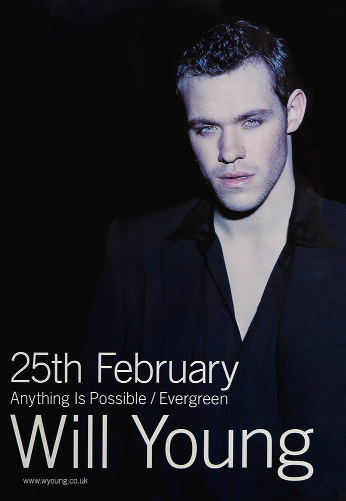 Will Young poster – Anything Is Possible and Evergreen