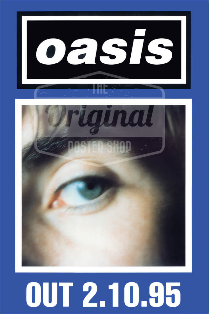 Oasis poster - (What's the Story) Morning Glory? Liam (Blue) (1st Generation Reprint)
