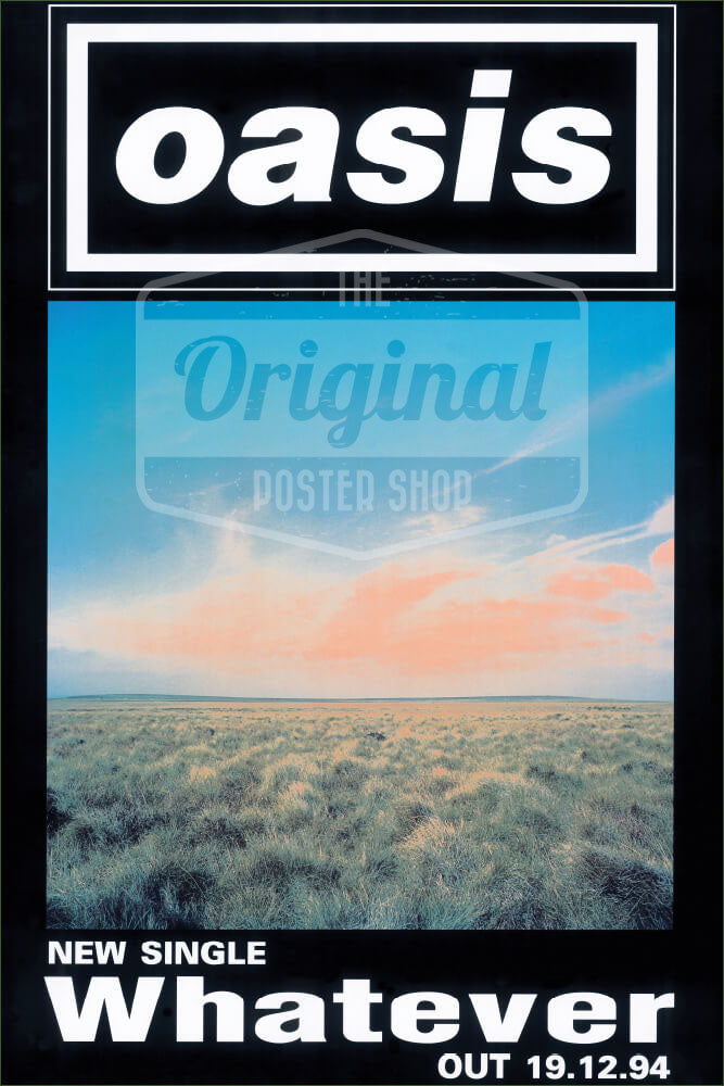 Oasis poster - Whatever (1st Generation Reprint)