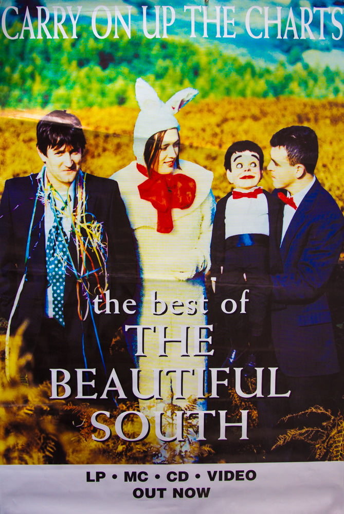 "The Beautiful South poster - Carry on up the Charts. Original 60""x40"""