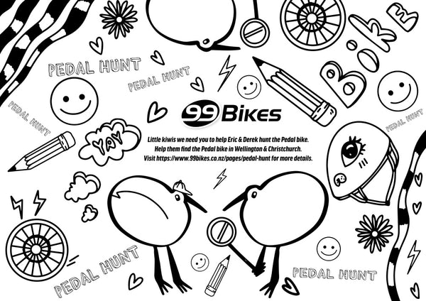 99 Bikes Pedal Hunt Coloring Page Icon