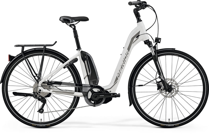 Merida Espresso City 300 EQ Electric Hybrid Bike White/Silver (2019)