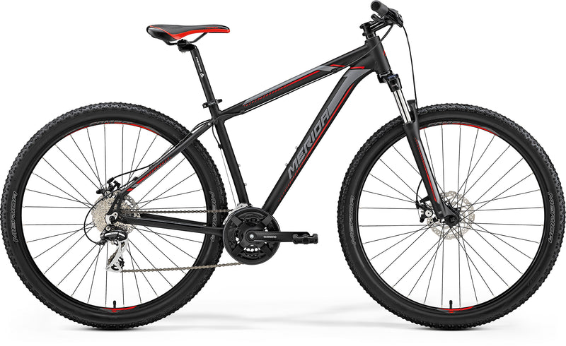 Merida Big Nine 20MD Hardtail Mountain Bike Black Red (2019)