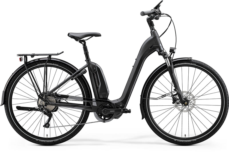 Merida Espresso City 600EQ Electric Hybrid Bike Matt Black/Anthracite (2020)