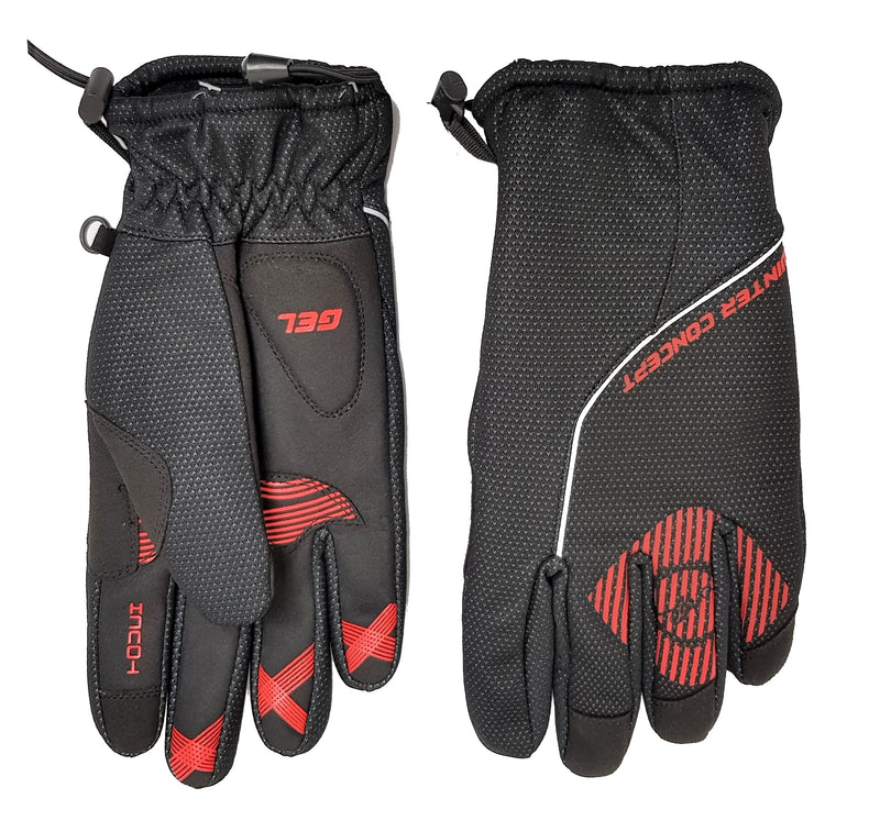 FORTY2 Gloves FF Winter Thermo Black/Red LG