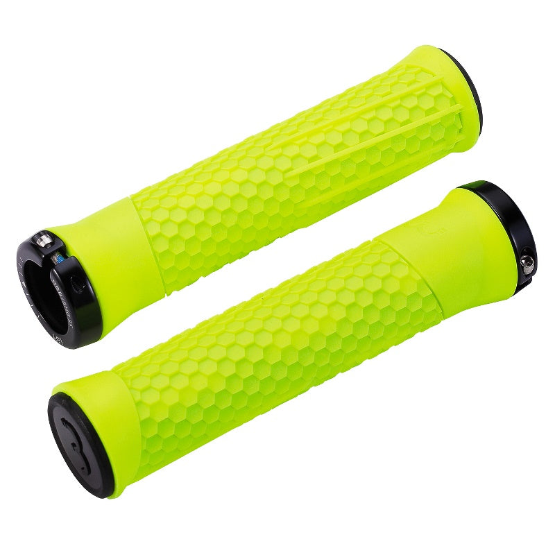 BBB Python MTB Grips 142mm Neon with Black Lockring