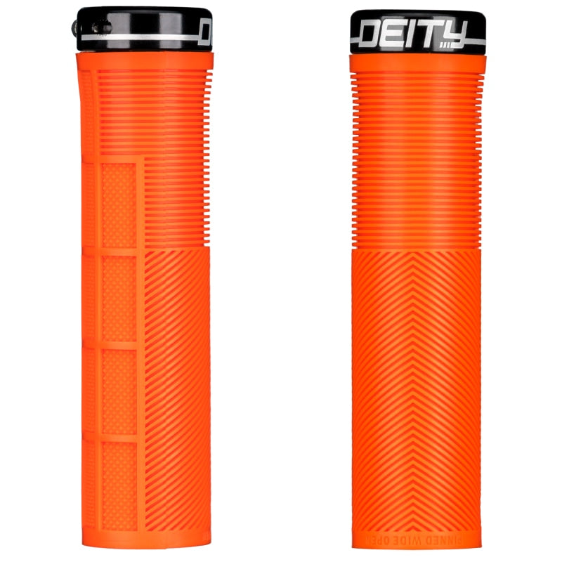 Deity Knuckleduster Lock-On Grips Orange