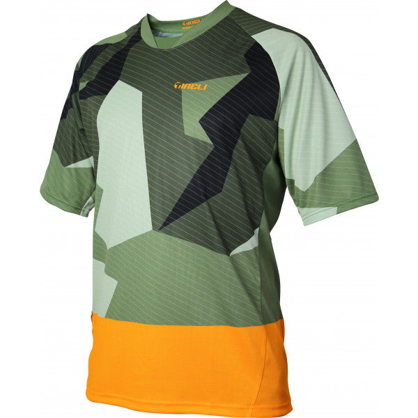 Tineli Jersey MTB Camo Green/Black/Orange