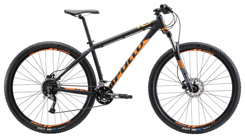 Apollo Comp 10 Cross Country Bike Matt Black/Orange (2019)