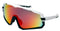 FrameUps Eyewear Arenberg White/Black with Red Revo Lens