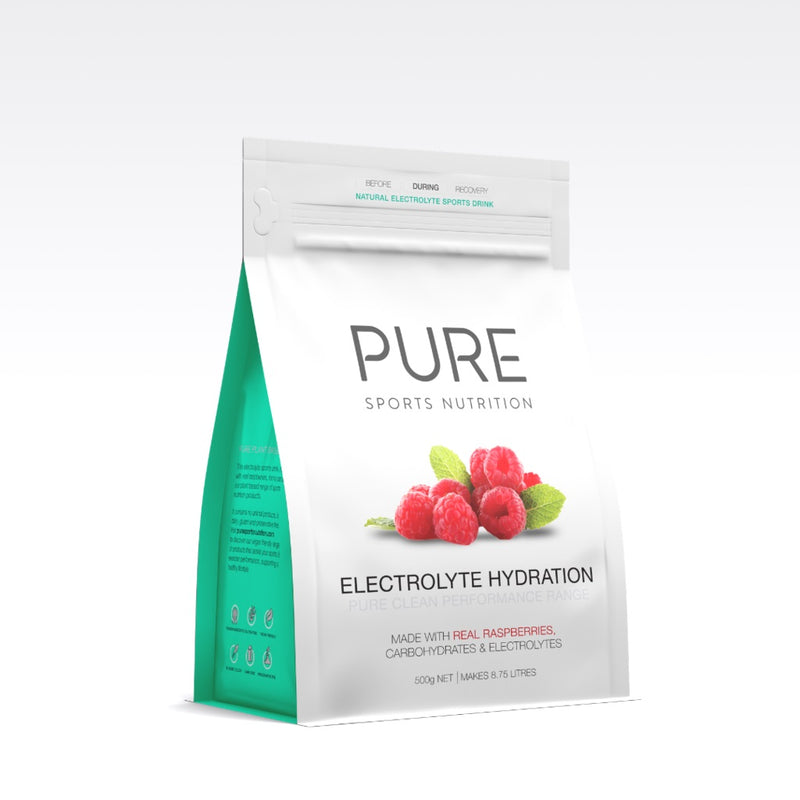 PURE Electrolyte Hydration Pouch Raspberry 500g